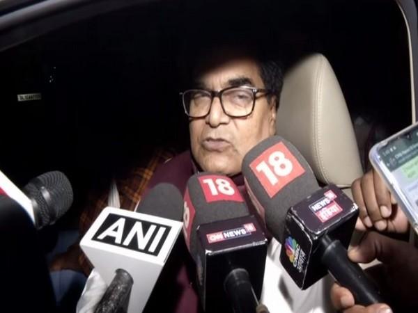 Samajwadi Party leader Ram Gopal Yadav speaking to reporters in New Delhi on Sunday. Photo/ANI