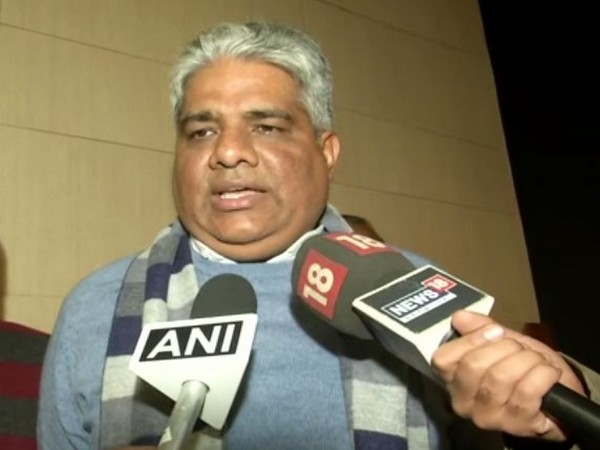 BJP leader Bhupendra Yadav talking to media persons in New Delhi on Sunday (photo/ANI)