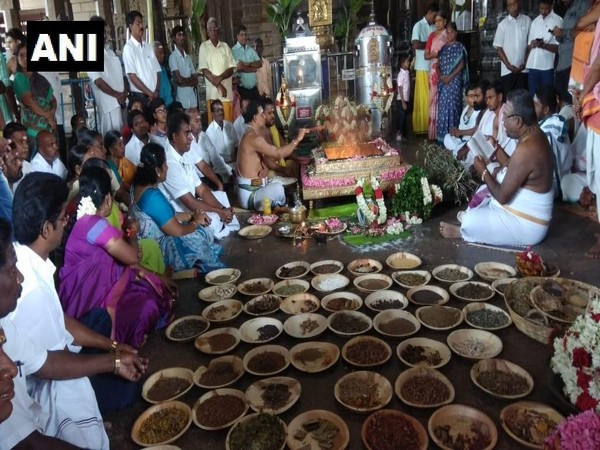 Special 'Yajna' beind conducted in Coimbatore on Saturday (Photo/ANI)