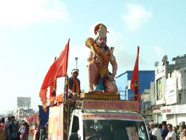 A visual of Rath Yatra in Gujarat on Saturday Photo/ANI