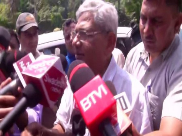 CPI(M) leader Sitaram Yechury talking to reporters in New Delhi on Tuesday. Photo/ANI