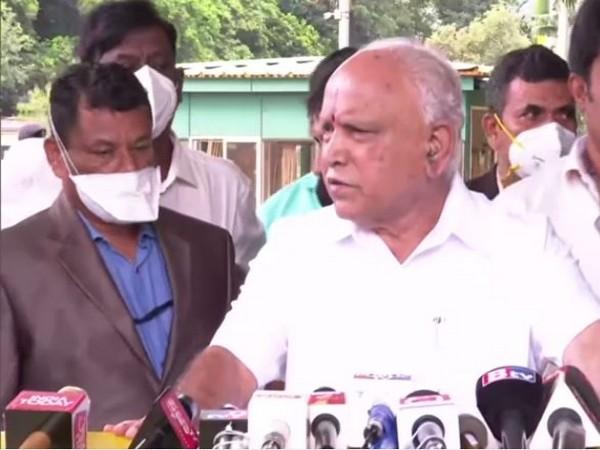 Karnataka Chief Minister BS Yediyurappa addressing a press conference in Bengaluru on Friday. (Photo/ANI)