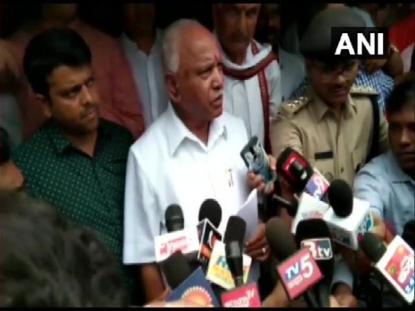 Karnataka Chief Minister BS Yediyurappa in Dakshina Kannada district on Aug 12.