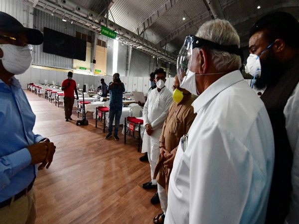 Chief Minister BS Yediyurappa on Thursday visited the COVID Care Centre established in Bengaluru International Exhibition Centre (BIEC) and inspected the facilities there.