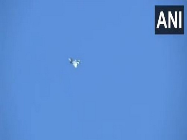 Indian Air Force's Rafale fighter jet flying over Ladakh (Photo/ANI)