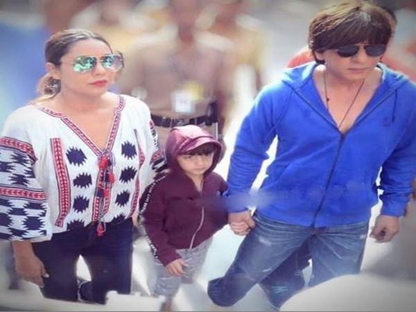 Shah Rukh Khan,  AbRam and Gauri Khan (Image courtesy: Instagram)