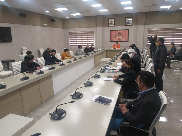 UP CM holds review meeting with officials for Jewar Airport (Photo/ ANI)