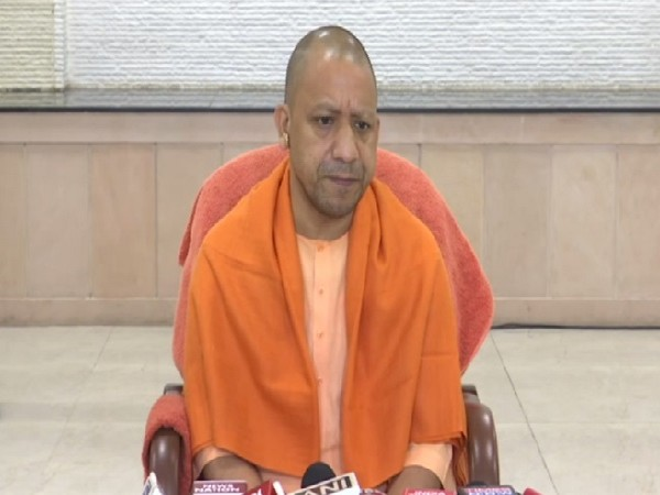 Uttar Pradesh Chief Minister Yogi Adityanath speaking at a press conference in Lucknow on Saturday. Photo/ANI