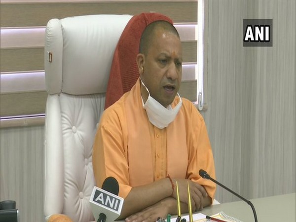 UP Chief Minister Yogi Adityanath speaking to media on Friday. Photo/ANI