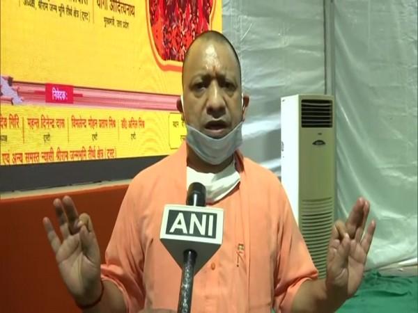 Uttar Pradesh Chief Minister Yogi Adityanath speaking to ANI in Ayodhya on Monday. (Photo/ANI)
