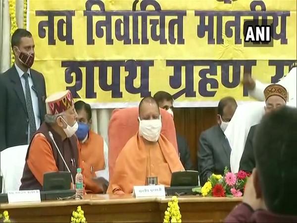 Uttar Pradesh Chief Minister Yogi Adityanath during the event. (Photo/ANI)