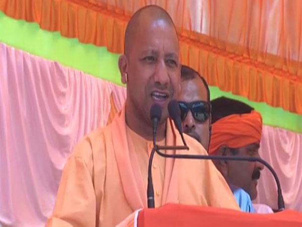 Yogi Adityanath addressing election rally at  Sahjanwa in Gorakhpur on Friday