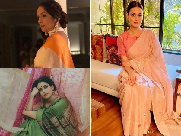 Pictures shared by actors on National Handloom Day (Image courtesy: Instagram)