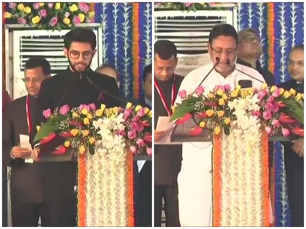 Aaditya Thackeray, Nawab Malik take oath as ministers in Maharashtra government
