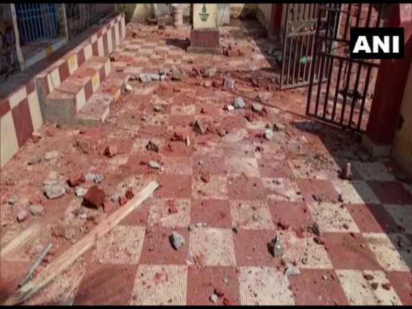 Visual of destruction caused by clashes in Mettavalasa village (Photo/ANI)