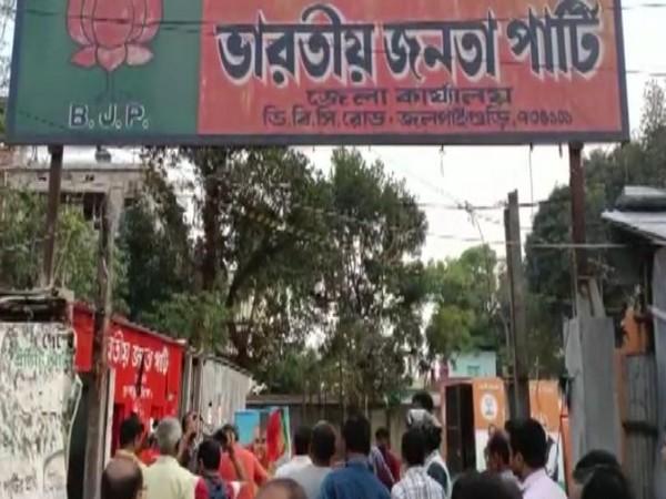 Visual of BJP party office in Jalpaiguri (Photo/ANI)