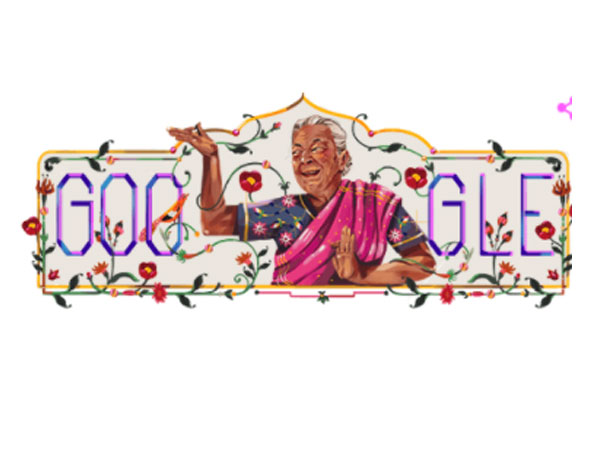 Google's doodle paying tribute to Zohra Sehgal (Image Source: Google)
