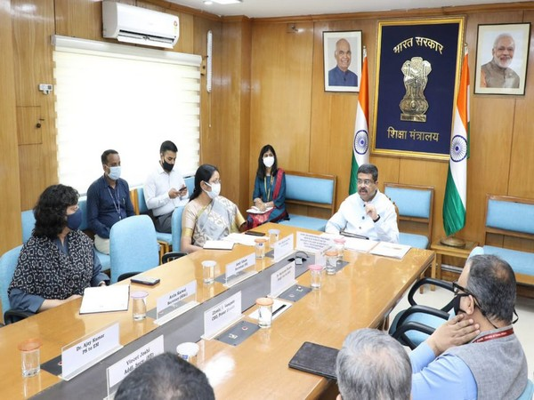 Visual of meeting chaired by Union Minister Dharmendra Pradhan (Photo/ANI)