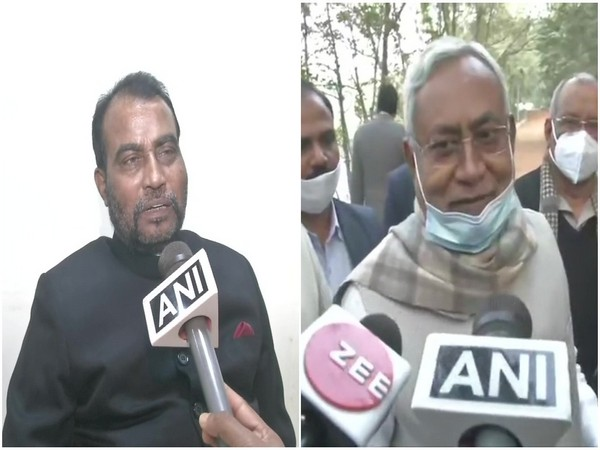 RJD leader Shyam Rajak (Left) and Bihar Chief Minister Nitish Kumar. (Photo/ANI)